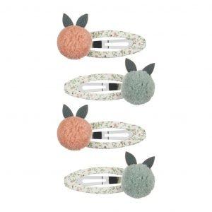 MIMI AND LULA clips para niñas fruit pom pom