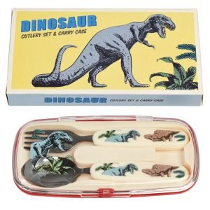 REX set cubiertos para niños prehistoric