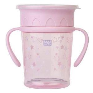 SARO taza antigoteo 360 amazing cup rosa