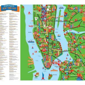 PALOMAR mapa arrugable New York