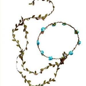 KALID MEDIEVAL corona hojas azul