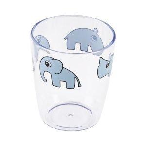 DONE BY DEER vaso mini transparente Deer friends Blue