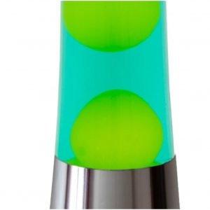 FISURA lampara lava cromo verde