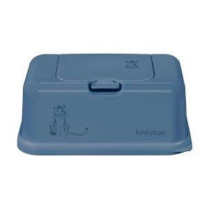 FUNKYBOX caja toallitas azul tigre