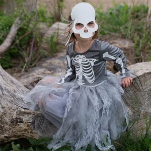 GREAT PRETENDERS disfraz esqueleto tutu mask 3-4A