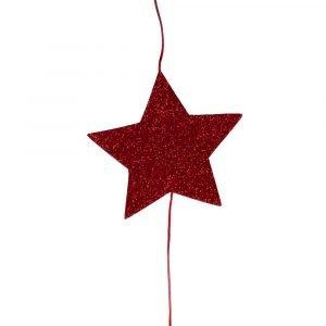 SUIT BEIBI guirnalda glitter vertical rojo