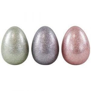 HOFF INTERIEUR huevo grande purpurina plata