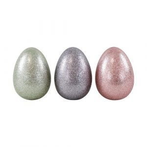 HOFF INTERIEUR huevo pequeño purpurina plata