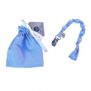 KOKOLALA chupetero Vichy Azul