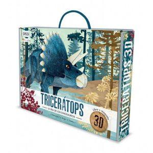SASSI libro y puzle 3D Tricerátops