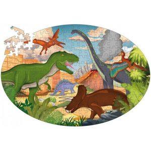 SASSI puzle y libro Los Dinosaurios
