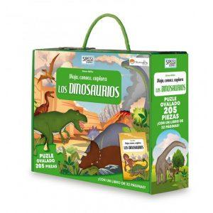 SASSI puzle y libro Els Dinosaures CAT