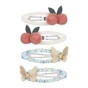 MIMI AND LULA clips para niñas Cherries and Butterflies