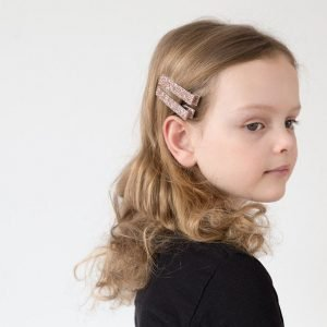 MIMI AND LULA clips princess glitter silver
