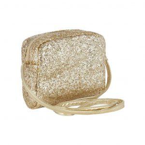 MIMI AND LULA bolso glitter cross gold