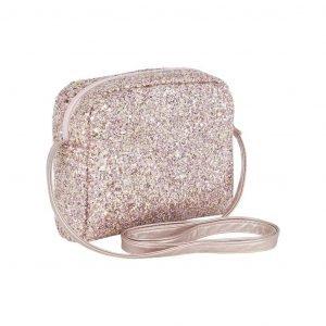 MIMI AND LULA bolso glitter cross pink