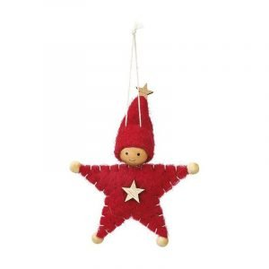 MOSES colgante muñeco star fieltro rojo