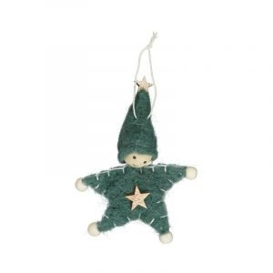 MOSES colgante muñeco star fieltro verde
