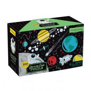 MUDPUPPY puzzle 100PZ brilla oscuridad space