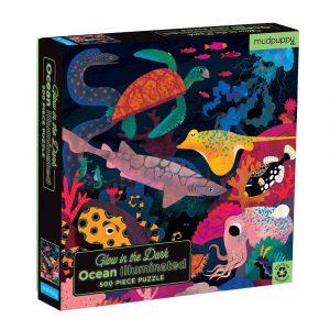 MUDPUPPY 500pz puzzle que brilla en la oscuridad ocean