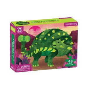 MUDPUPPY mini puzzle 48 pz ankylosaurus