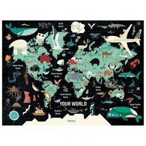 MUDPUPPY puzzle 1000pz your world