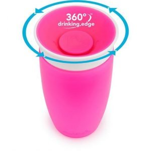 MUNCHKIN vaso anti goteo 295ml rosa