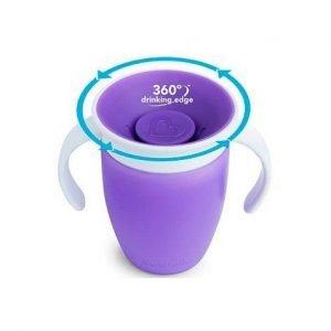 MUNCHKIN vaso antigoteo 360 miracle lila