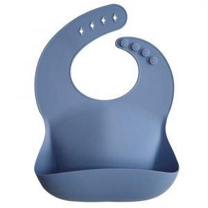 MUSHIE babero silicona powder blue