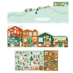 PETIT COLLAGE juego adhesivos winter wonderland