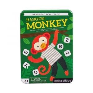 PETIT COLLAGE juego magnético ahorcado Monkey