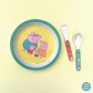 PETIT JOUR plato baby Peppa Pig