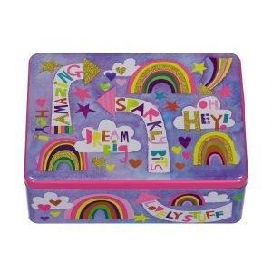 RACHEL ELLEN caja metalica para niños Sparkly Bits