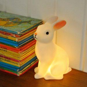 REX lampara conejo blanco