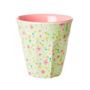 RICE vaso mediano print Green Pastel Flower