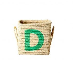 RICE raffia basket D