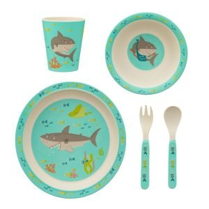 SASS AND BELLE set bambú Shark