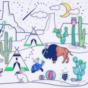 SUPER PETIT salvamantel silicona cactus