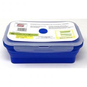 TECNHOGAR tupper plegable silicona 1200ml azul