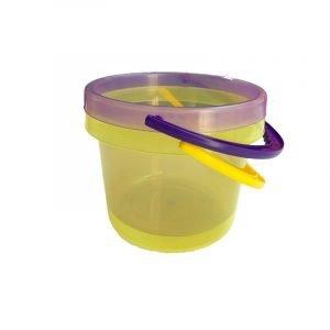 TICKIT set 2 cubos translucidos lila amarillo