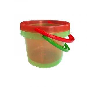 TICKIT set 2 cubos translucidos rojo verde