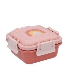 TUTETE tupper almuerzo mini arcoiris rosa