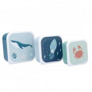 TUTETE set de 3 tuppers para niños Ocean