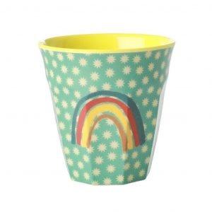 RICE vaso mediano print Arcoiris