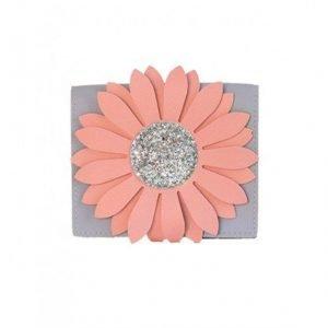 YUKO B bolso flor gris