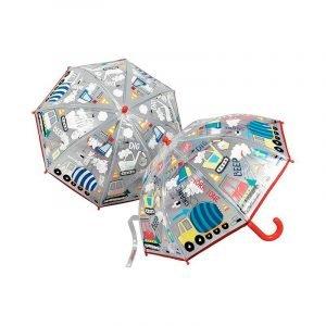 FLOSS AND ROCK paraguas transparente Construcción
