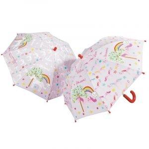 FLOSS AND ROCK paraguas Unicornio