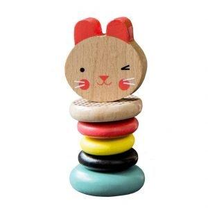 PETIT COLLAGE sonajero madera Bunny