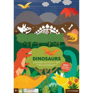 PETIT COLLAGE juego adhesivos dinosaurios