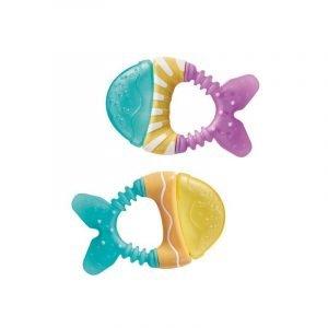 SARO  2 mordedores pez Menta y lila